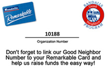Good Neighbor Card with Organziation Number 10188