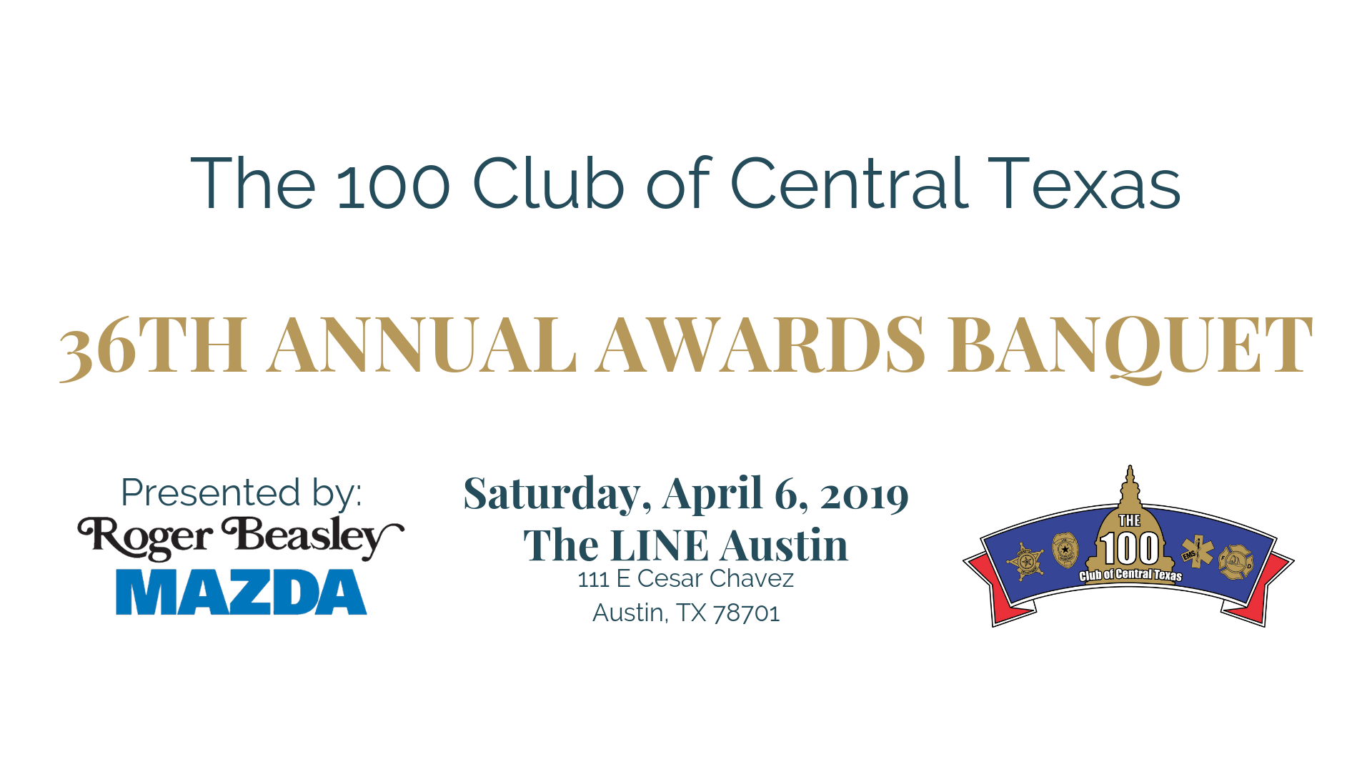 Roger Beasley Mazda Central >> Annual Awards Banquet | The 100 Club of Central Texas